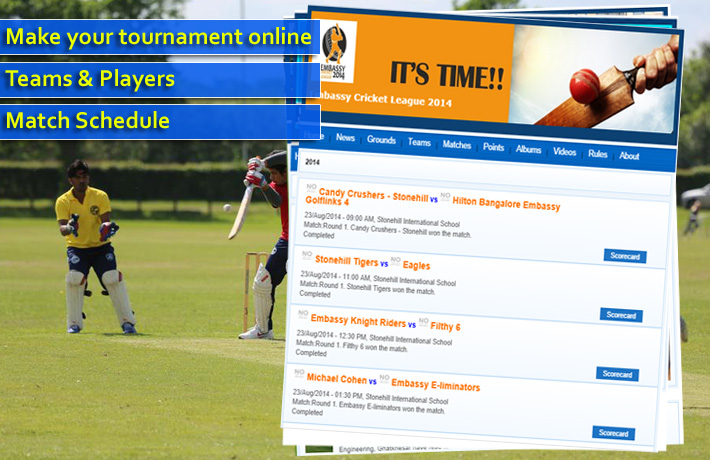 Crictrophy - Online cricket tournament management system